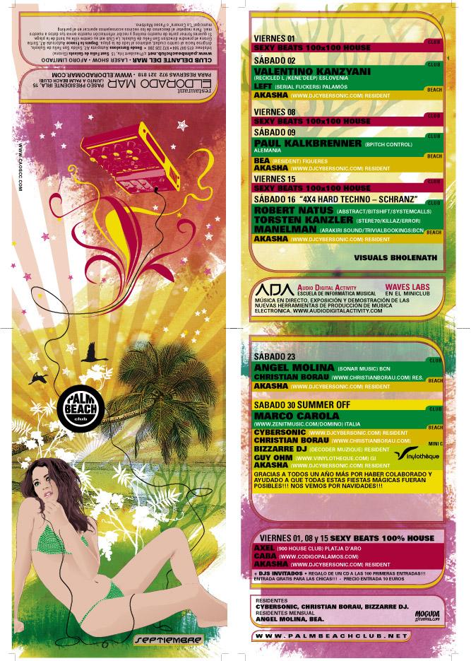 Palm Beach - Flyer - Septiembre