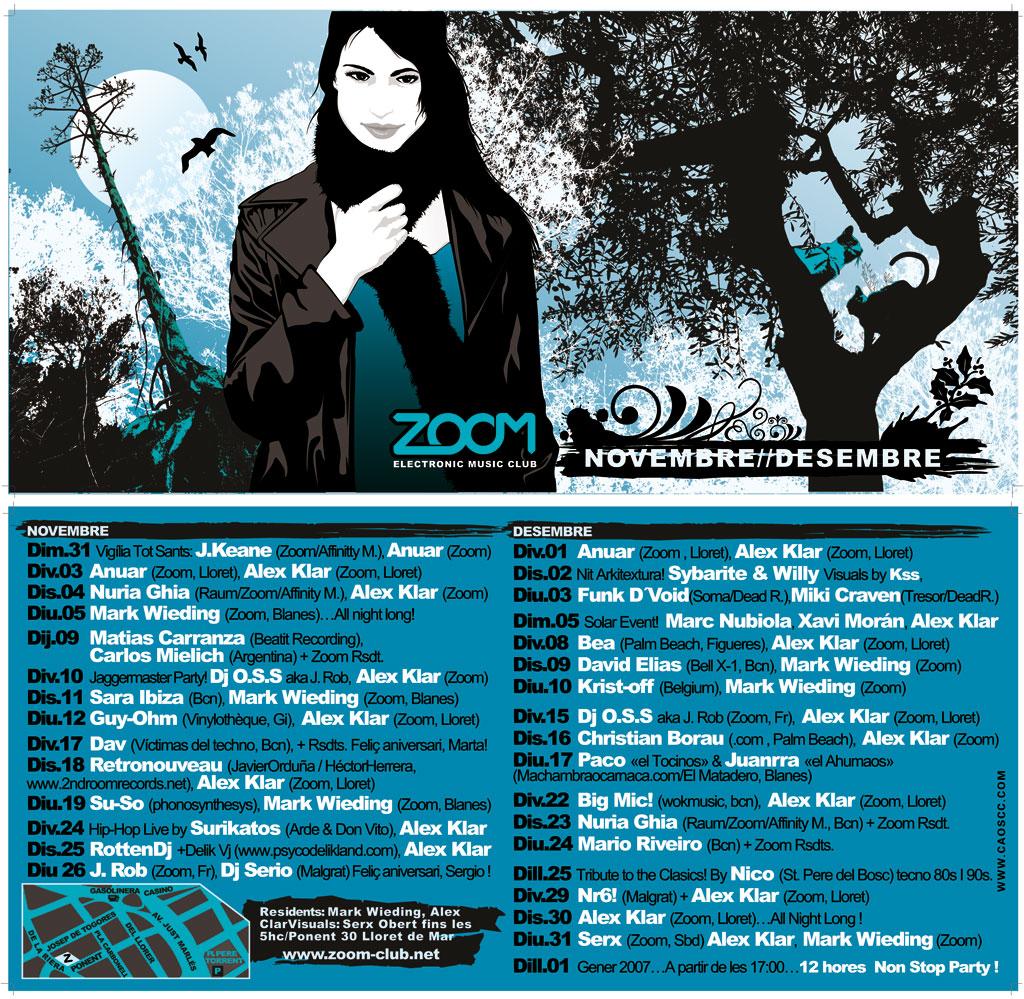 Zoom - Flyer Noviembre, Diciembre