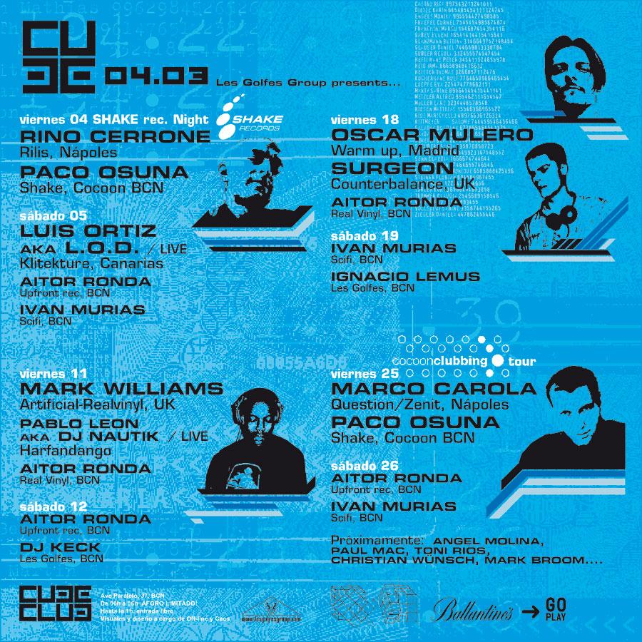 Cube Club - Tema Cube - Flyer mensual